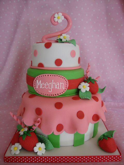 Strawberry shortcake birthday cake by icedimpressions, via Flickr