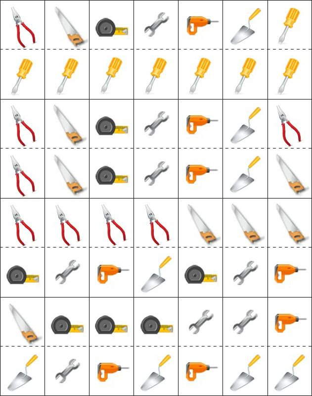 Jeu de dominos, les outils