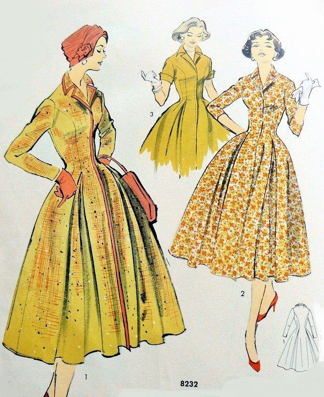 353 Best Images About 1950s Dress Patterns On Pinterest