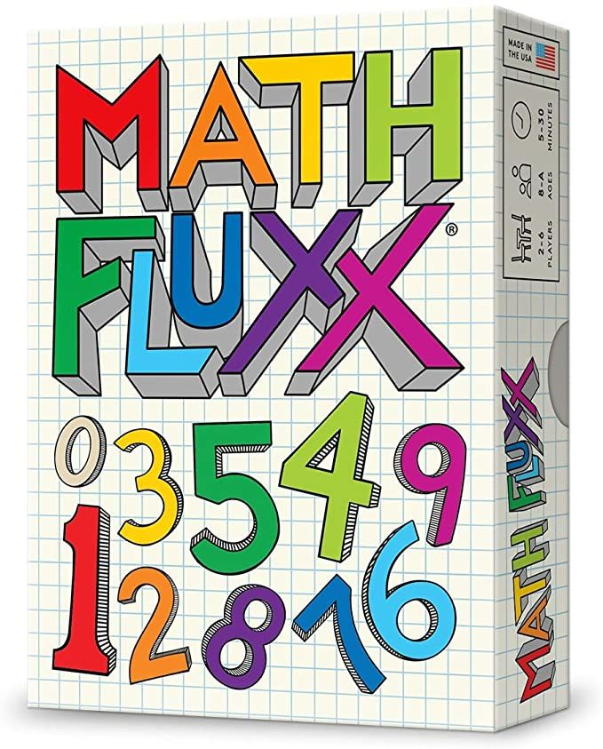 Amazon Com Looney Labs Fluxx Math Fluxx Card Game Toys Games
