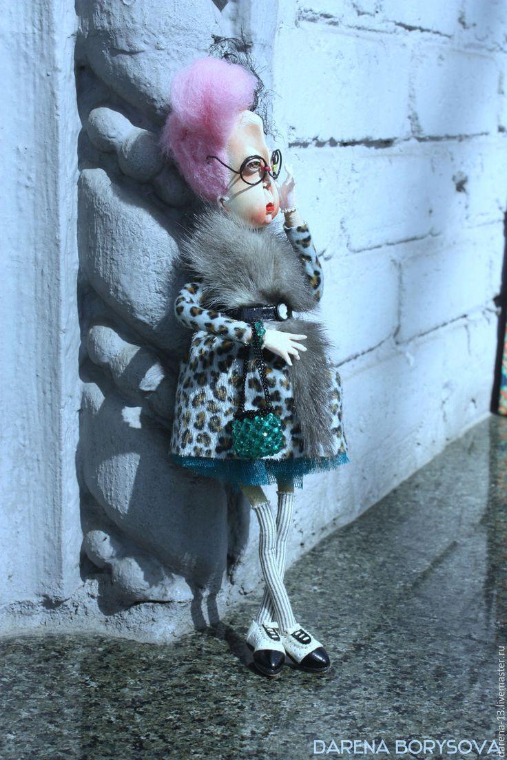 Купить Полетт - бирюзовый, модная кукла, необычный подарок, эксклюзив, леопардовый, мода, стиль