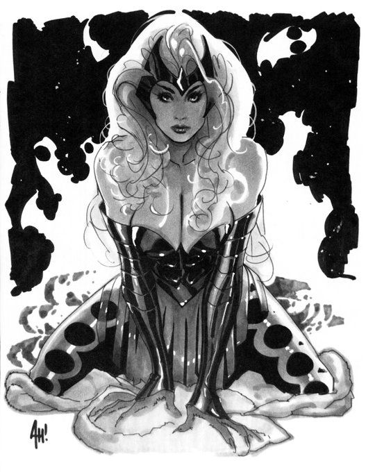 wallets on chains Enchantress by Adam Hughes