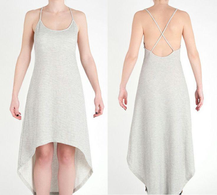 Asymmetric-Cross Back Dress. #Minisize #Spring #Summer #WomanCollection http://www.minisize-sissychristidou.gr/el/women/pike-forema-mpez.html