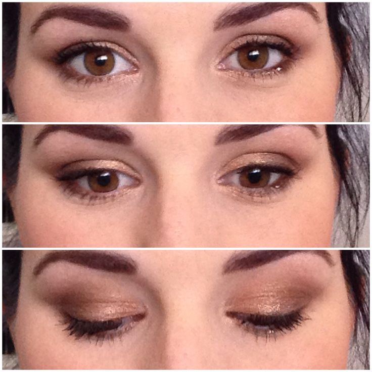 Simple casual gold smokey eyes