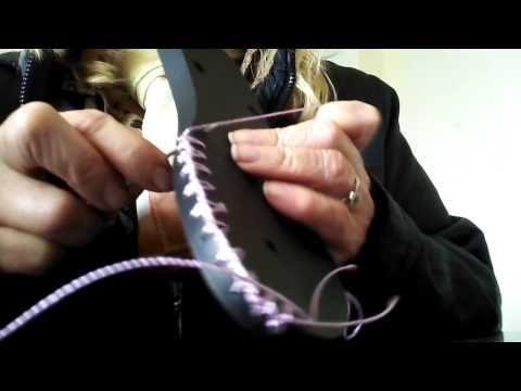 Ensinando crochê em solas - YouTube