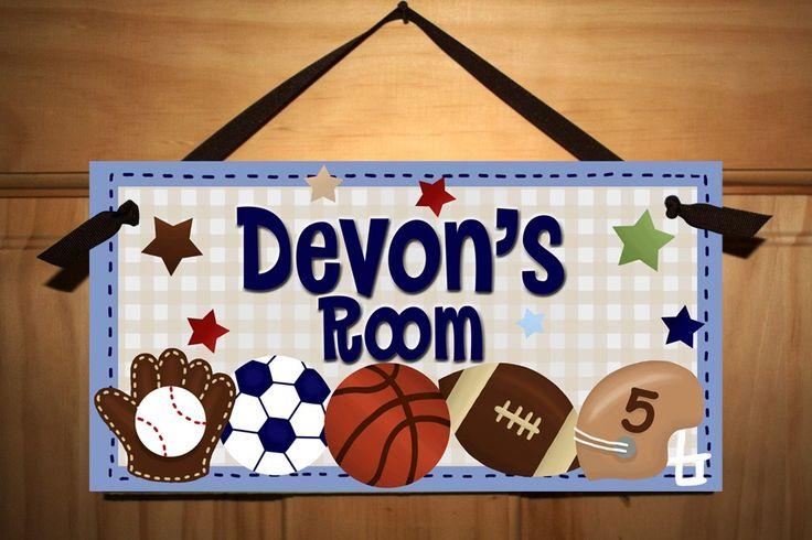 AZUL chicos toda la estrella deportiva - fútbol fútbol béisbol dormitorio muestra la puerta de la pared Ds0004 de arte de ToadAndLily en Etsy https://www.etsy.com/mx/listing/69431584/azul-chicos-toda-la-estrella-deportiva