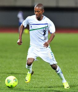 Teboho Lekhooa of Lesotho during the Cosafa u20 Youth Championship Group A game between Lesotho and Comoros at Setsoto Stadium, Maseru in Lesotho on 3 December 2013 ©Ryan Wilkisky/BackpagePix