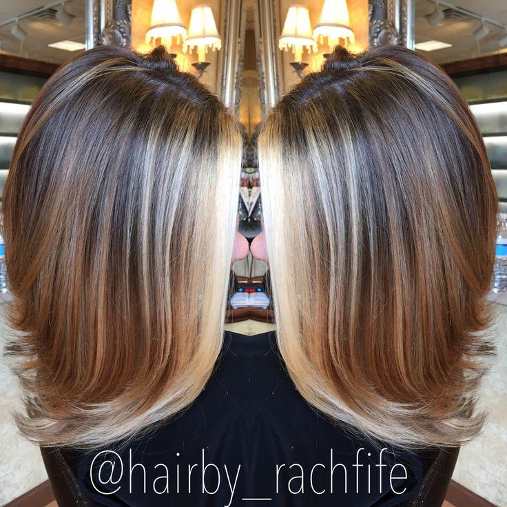 Bright blonde face framing balayage highlights. hair by Rachel Fife @ SF Salon