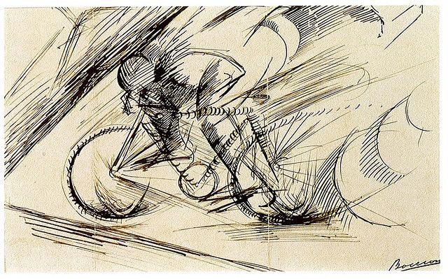 """FUTURISM ---------------------------------- """"Dynamism of a Cyclist"""" by Umberto Boccioni (1913)"""