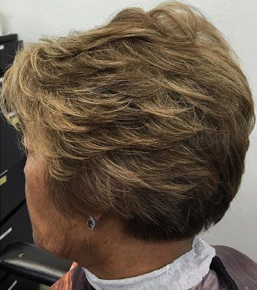 Short Haircut For Older Women - I like the cut, unsure of the straight edge in the back and over the ear.