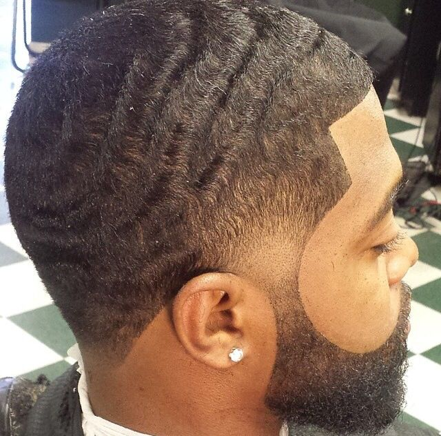 Waves, Fade, and Beard. This the look I love to see on a man!: Barbers ...