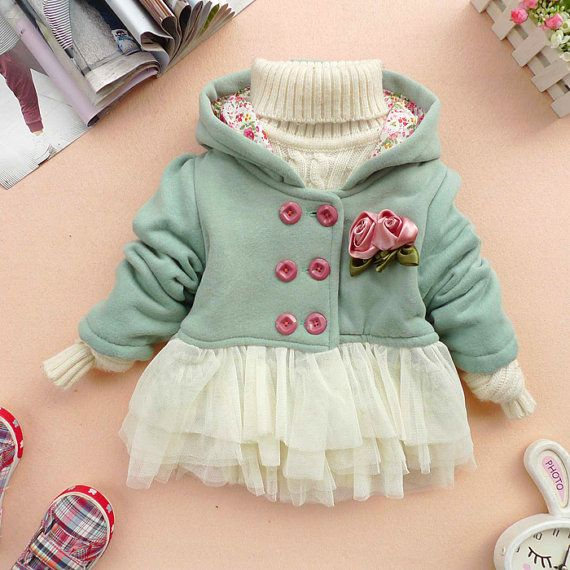 SALE 12m,18m,24m,3y,4y baby clothes baby girl clothes autumn spring winter coat kid blue pink coat gown