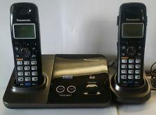 Panasonic KX-TG9321 2-Line беспроводной телефон, черный металлик, 1 Трубка