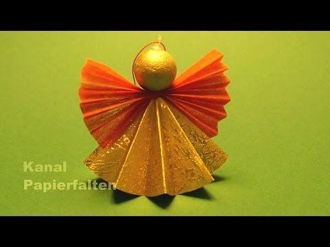 Weihnachtsengel basteln - Engel basteln für Weihnachten - Bastelideen - YouTube