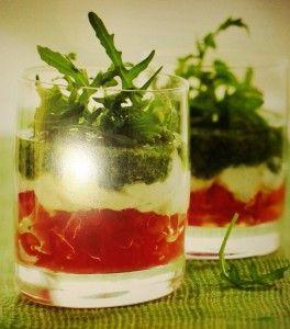 Bicchierini Tricolore di Caprese Scomposta -  FINGER FOOD