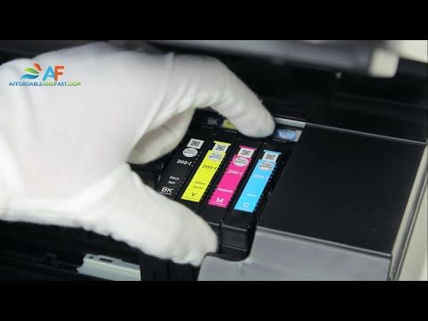 How to replace ink cartridge for Epson XP-300/400 - YouTube