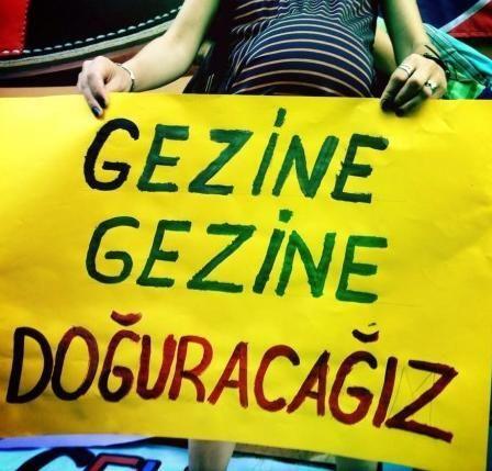 """#direnhamile Hamile Hamile Gezi Parkı'na Gittiler: """"Gezine Gezine Doğuracağız!"""" http://fb.me/2OJ4yDMI7"""