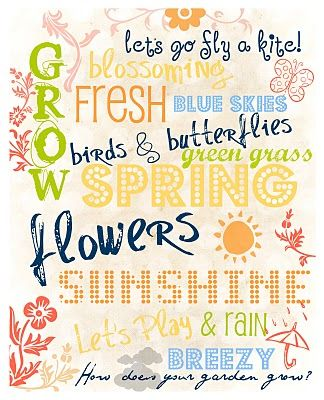 Cheerful thoughts for Spring