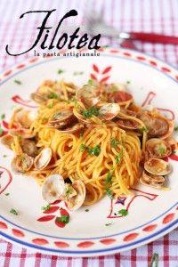 Spaghetti alla Chitarra con vongole e pomodorini