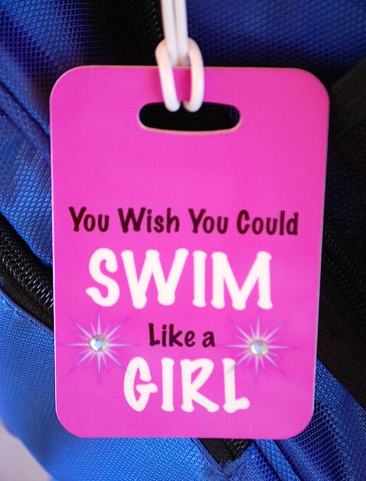 You Wish You Could Swim Like a Girl  Swim Bag Tag by FlipTurnTags, $5.95