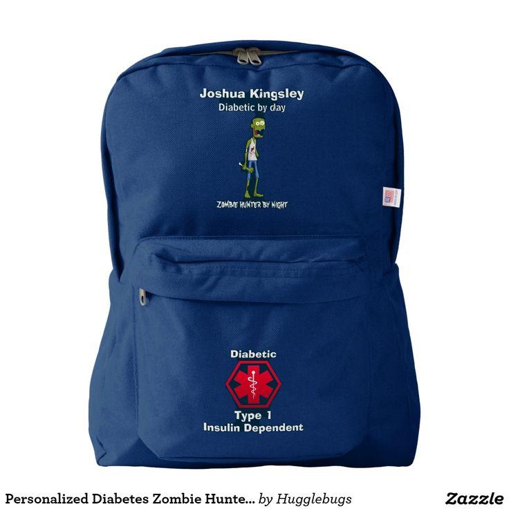 Personalized Diabetes Zombie Hunter Medical Alert