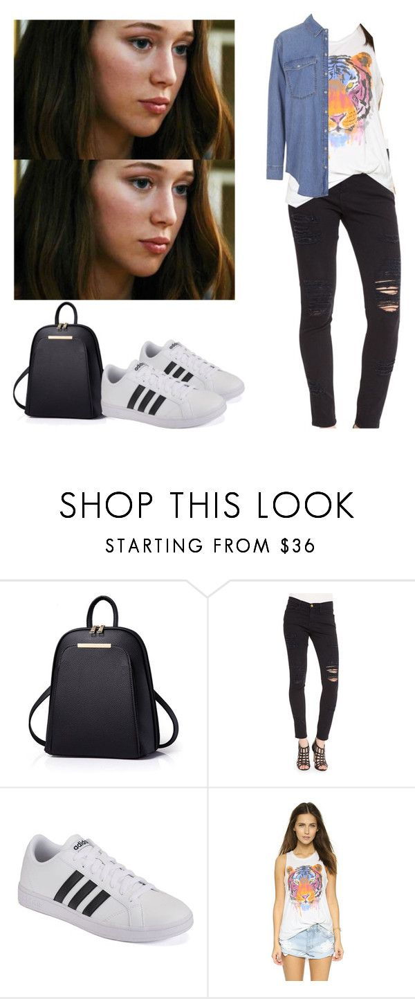 """Alicia Clark with adidas baselines - ftwd / fear the walking dead"" by shadyannon ❤ liked on Polyvore featuring Frame, adidas, Chaser and Topshop"