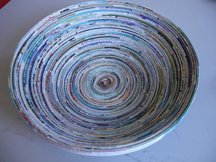 Magazine Bowls ∙ Version by Guri R. on Cut Out + Keep