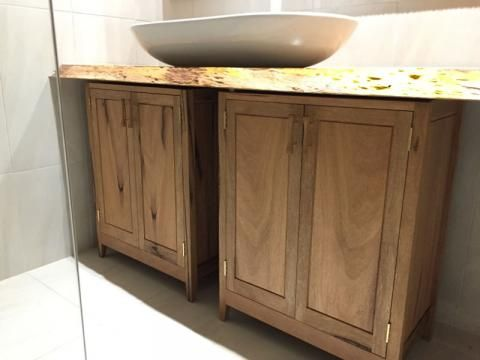Bathroom cabinets installed in the bathroom