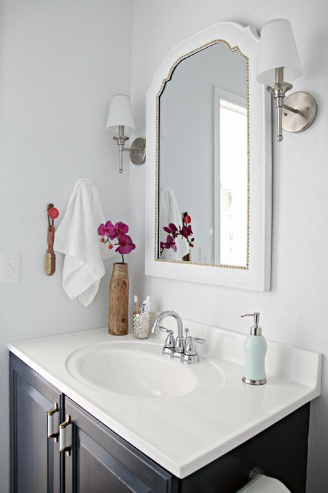 {Inspired Rooms} Pretty Bathroom Makeover - THE INSPIRED ...