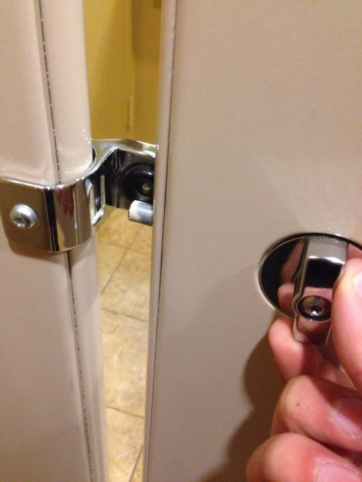 Best 25 bathroom stall ideas on pinterest narrow - Bathroom door that fogs up when locked ...