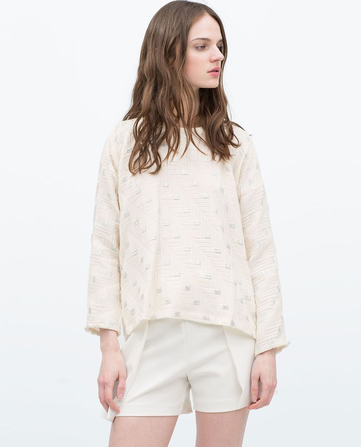 Image 2 of COMBINED TOP WITH BACK ZIP from Zara