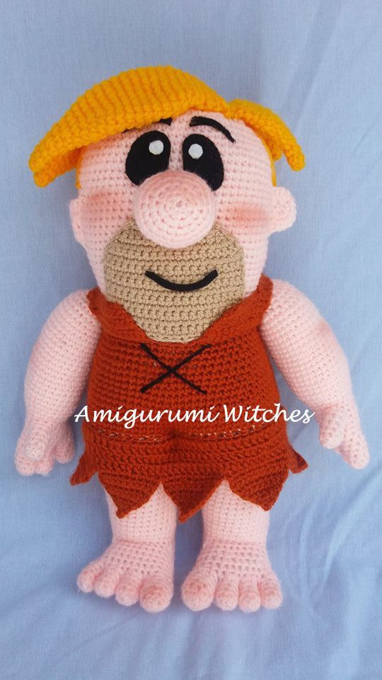 Barney Rubble by AmigurumiWitches on Etsy