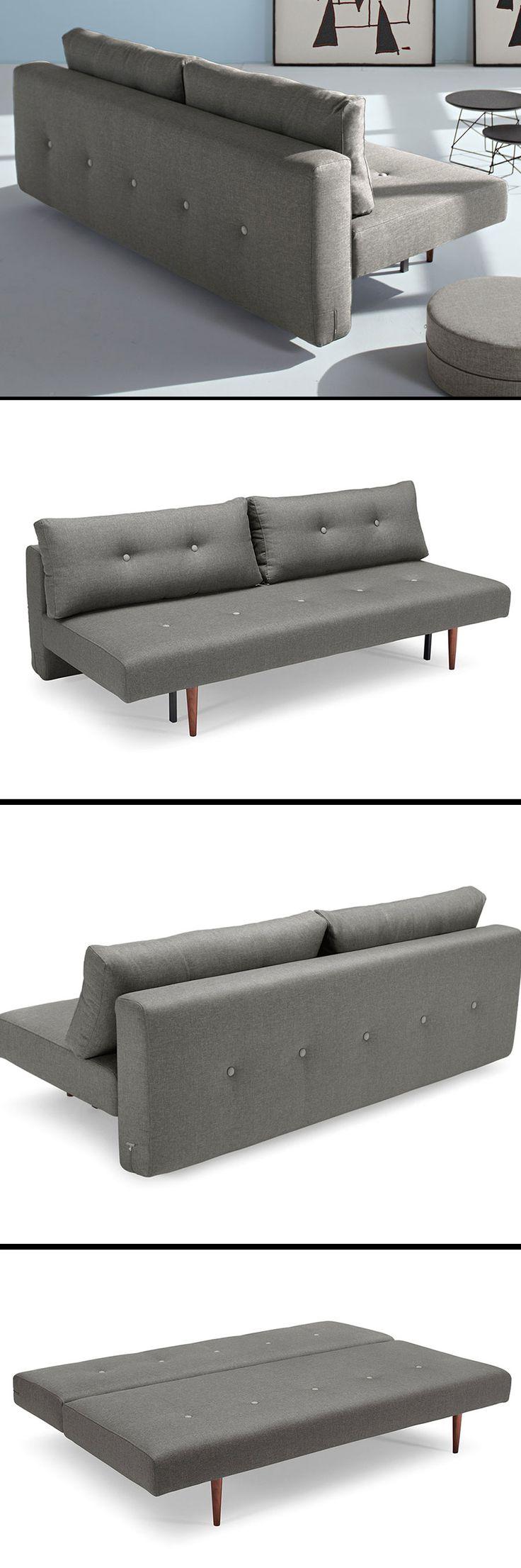 Ein stylisches Schlafsofa, das sich ganz leicht auf eine Liegefläche von 140x200cm ausklappen lässt. | Betten.de #schlafsofa #design #style http://www.betten.de/querschlaefer-schlafsofa-retrostil-grau-barnes.html