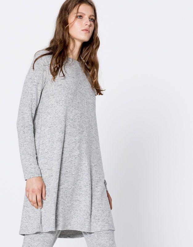 FELTED KNIT DRESS - DRESSES - WOMAN - PULL&BEAR United Kingdom