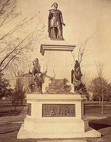 Statue of Joseph Brant in Brantford, Ontario. Wikipedia
