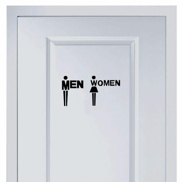 [$5.00] Marks For Men And Women's Toilet Sticker