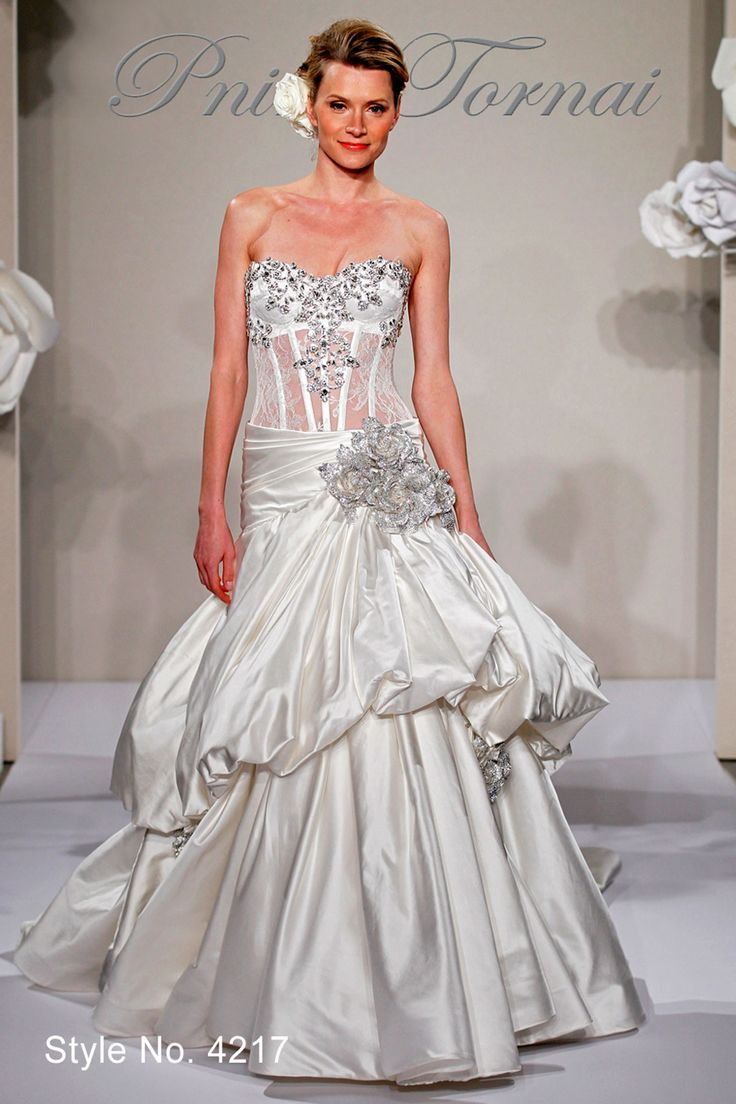 41 best wedding dresses images on pinterest marriage wedding bridal gowns pnina tornai princessball gown wedding dress with sweetheart neckline and dropped waist waistline ombrellifo Gallery