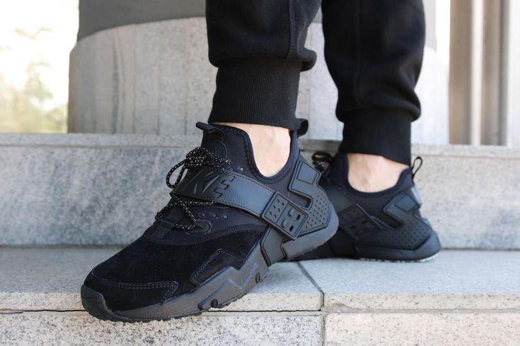 NIKE AIR HUARACHE DRIFT PREMIUM BLACK, RUSH VIOLET & ORANGE SNEAKERS ALL SIZES #Nike #RunningShoes