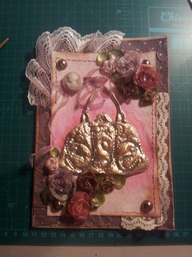 Female pewter card