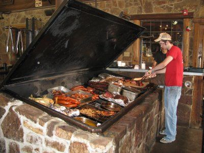 Pit bbq at Hard 8 in Stephenville, TX.  THE BEST EVERRRR!!