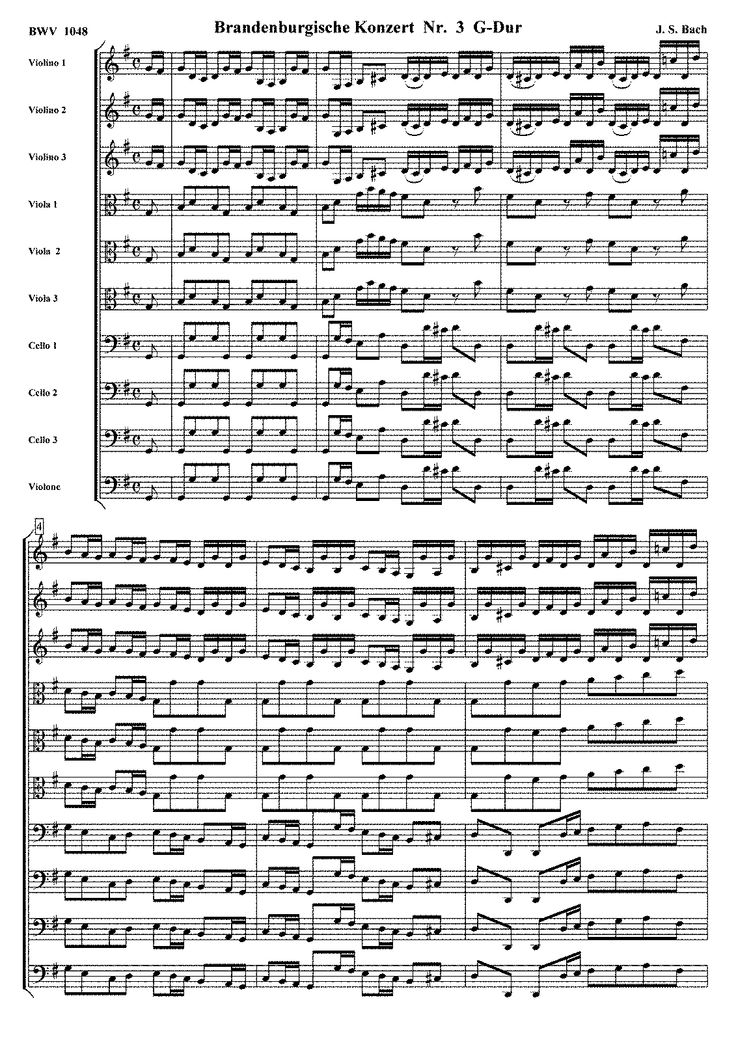 Brandenburg Concerto 3 Violin Sheet Music Many performers admired the viola
