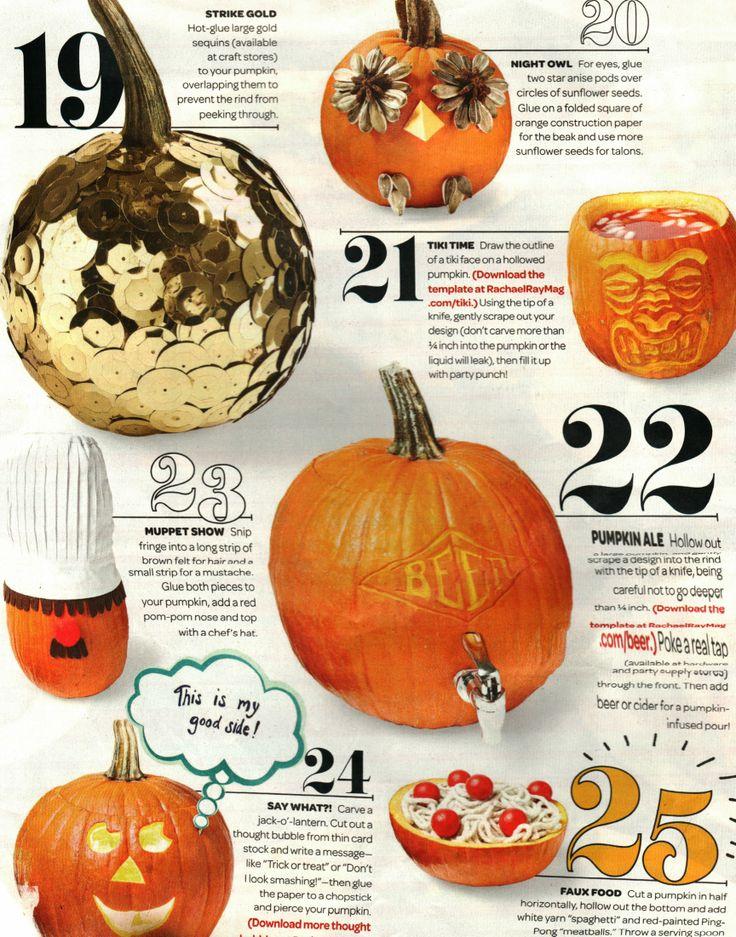Pumpkin Decorating 4 (from Rachael Ray Magazine