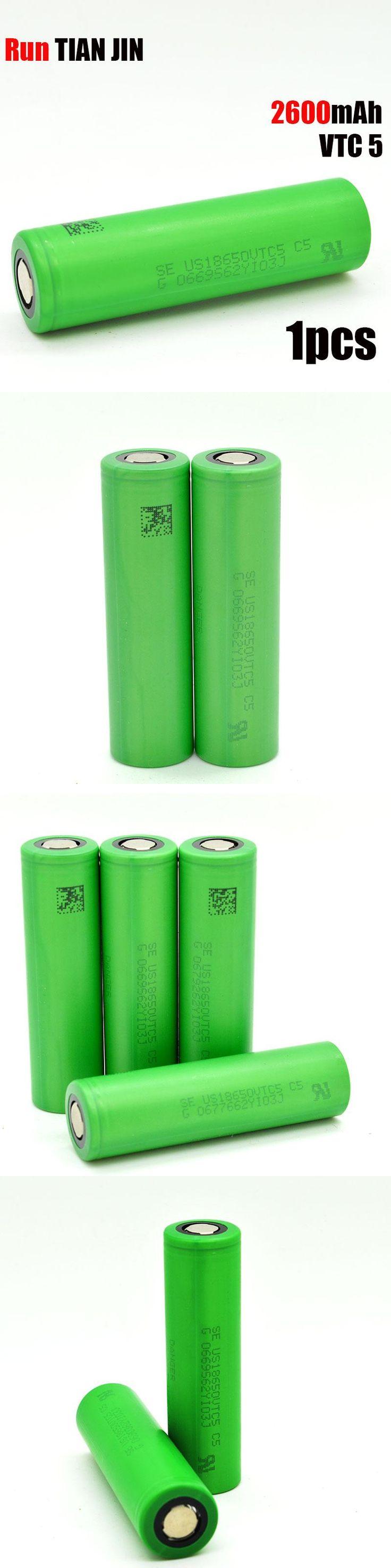 1PCS 18650 battery  100% original  Echtes Version 3.6 V 18650 US18650 VTC5 2600 mAh 30A E-cig batterie  Freies verschiffen