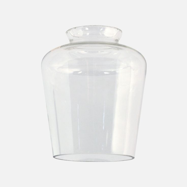 Classic tapered bell shade is Clear shades may have small bubbles or imperfections in the glass, as is the nature of hand-blown craft production.