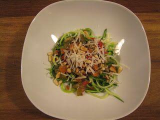 Courgettini met vegetarische saus