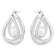 Swarovski Free Pierced Earrings, White