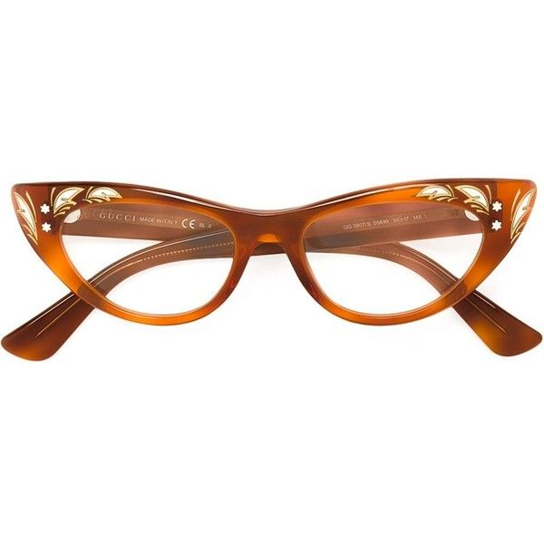 Gucci cat eye frame glasses (55435 RSD) ❤ liked on Polyvore featuring accessories, eyewear, eyeglasses, brown, cat-eye glasses, gucci, gucci eyeglasses, tortoise shell eyeglasses y cat eye glasses