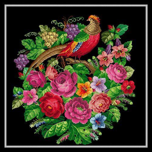 Woolwork pattern: Bird of paradise