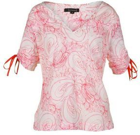 St Martins Womens Evidence Printed Loose Fit Pink Top on shopstyle.com.au