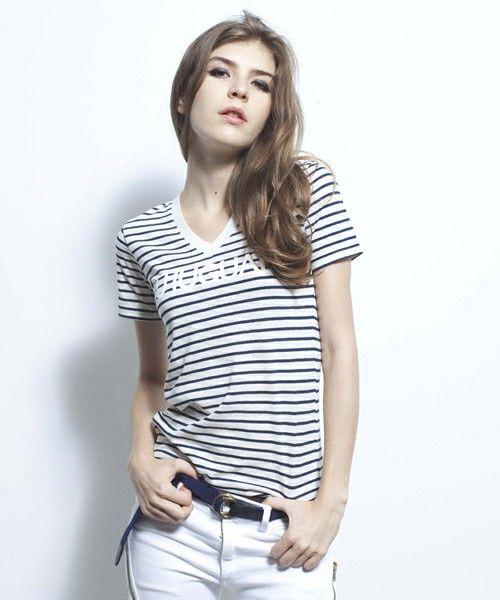 1 piu 1 uguale 3 / VINTAGE BORDER T-SHIRT(Tシャツ/カットソー) - ZOZOTOWN